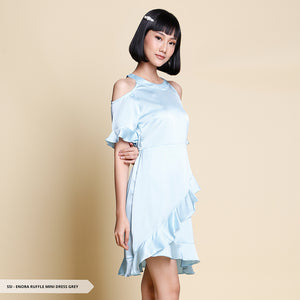 Enora Plain Ruffle Regular Mini Dress Sale 35%