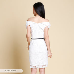 Jendaya Brukat Open Shoulder Regular Mini Dress SALE 40%