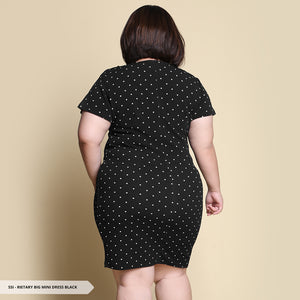 Rietary Polkadot Bodycon Big Mini Dress