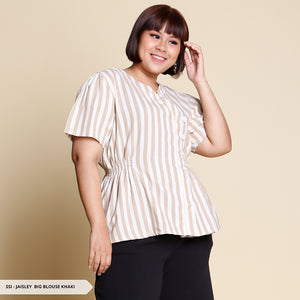 Jaisley Salur V-Neck Big Blouse