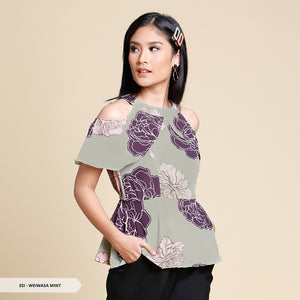 Weiwasa Flowery Cold Shoulder Regular Blouse Sale 35%