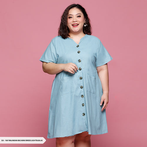 Y&F Ralinsha Buttons Casual Big Mini Dress