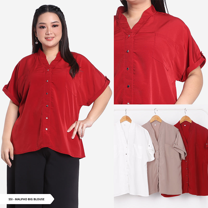 Malpho Plain Simple Big Blouse