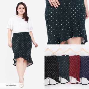 Rowen Polkadot Flare Big Skirt