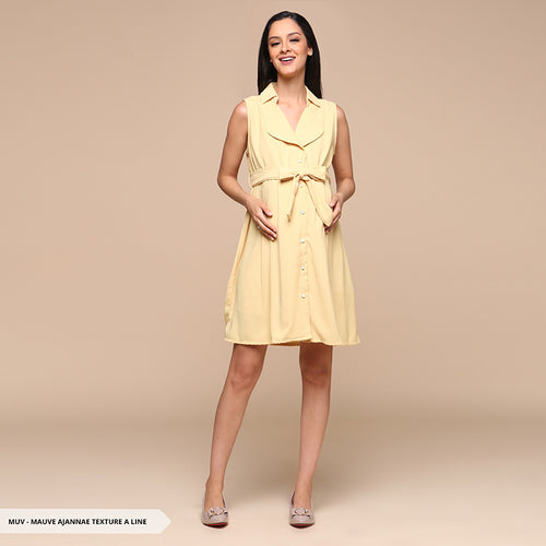 MAUVE Ajahnae Texture A-Line Maternity Dress