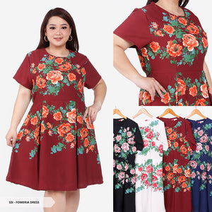 Foweria Flowery Flare Big Mini Dress