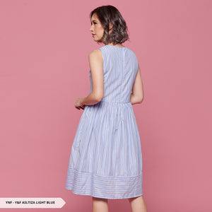 Y&F Asltiza Stripe Flare Regular Midi Dress