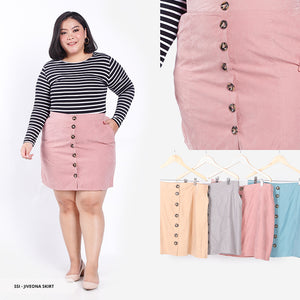 Jiveona Plain Casual Big Skirt