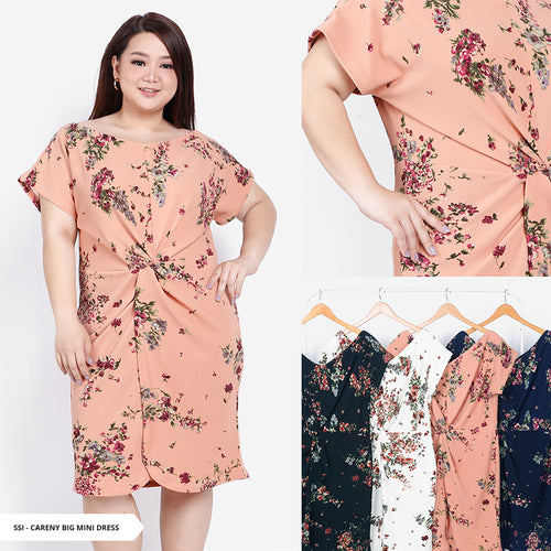 Careny Flowery Knot Big Mini Dress