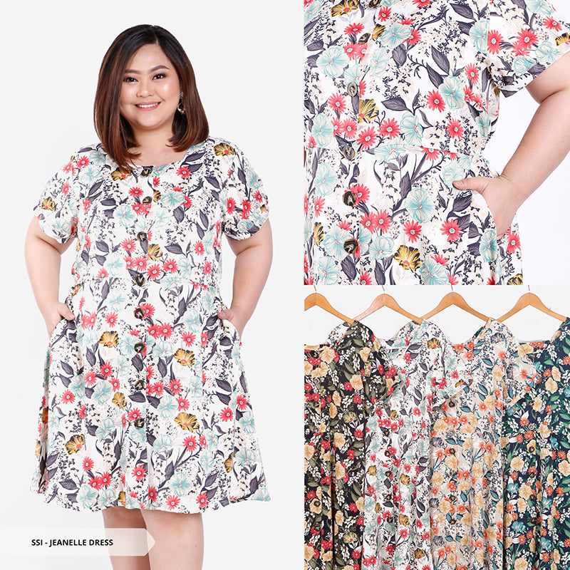 Jeanelle Floral Sweet Big Mini Dress SALE 35%