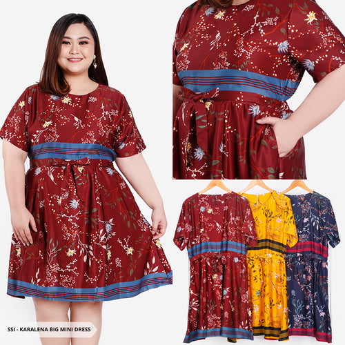 Karalena Flowery Flare Big Mini Dress