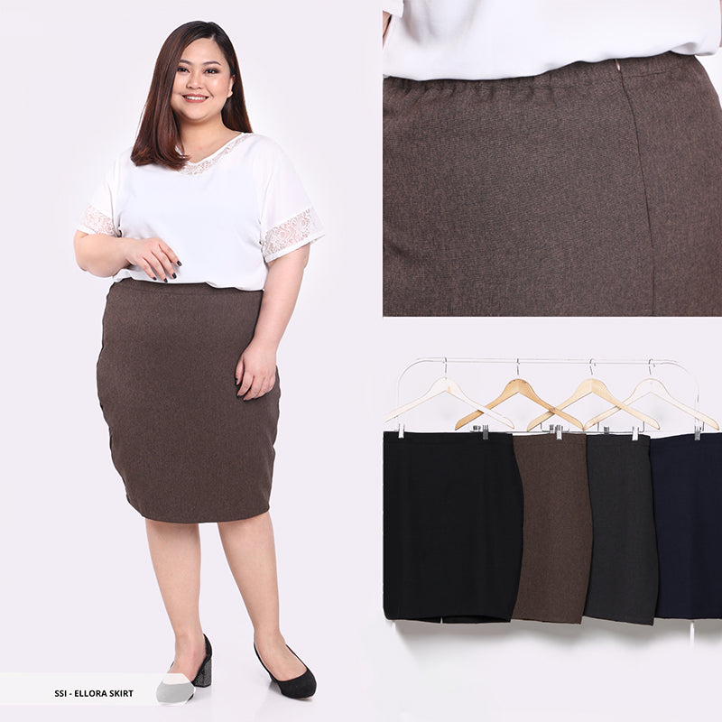 Ellora Plain Span Big Mini Skirt