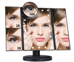 Magnifying Magic Mirror - LED, Touch Screen & Foldable Magnifying Mirror
