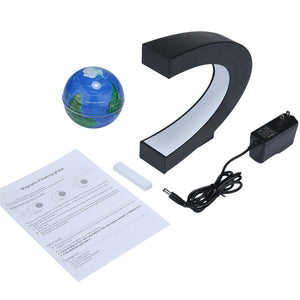 LED Floating World Globe Map With LED Light US/UK/EU Plug