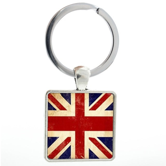 The UK Union Jack Flag Keychain