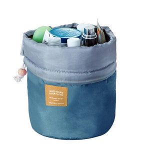 TravelBarrel™ Drawstring Barrel-Shaped Cosmetic Bag