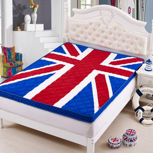 Union Jack Quilted Mattress Topper Single Or Double