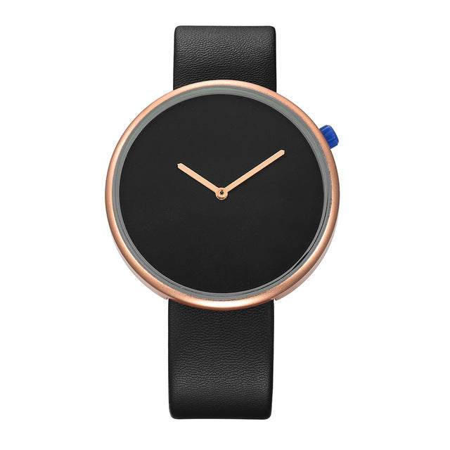Leather Strapped Minimalist European Watch
