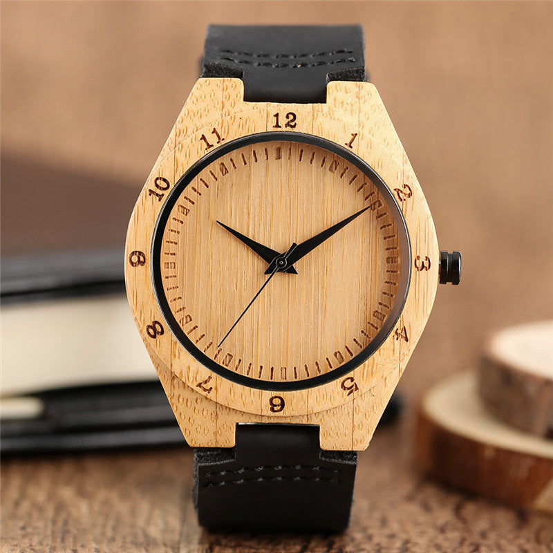 Handmade Bamboo Natural Wood Watch