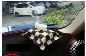 Cotton Union Jack Car Tissue Box