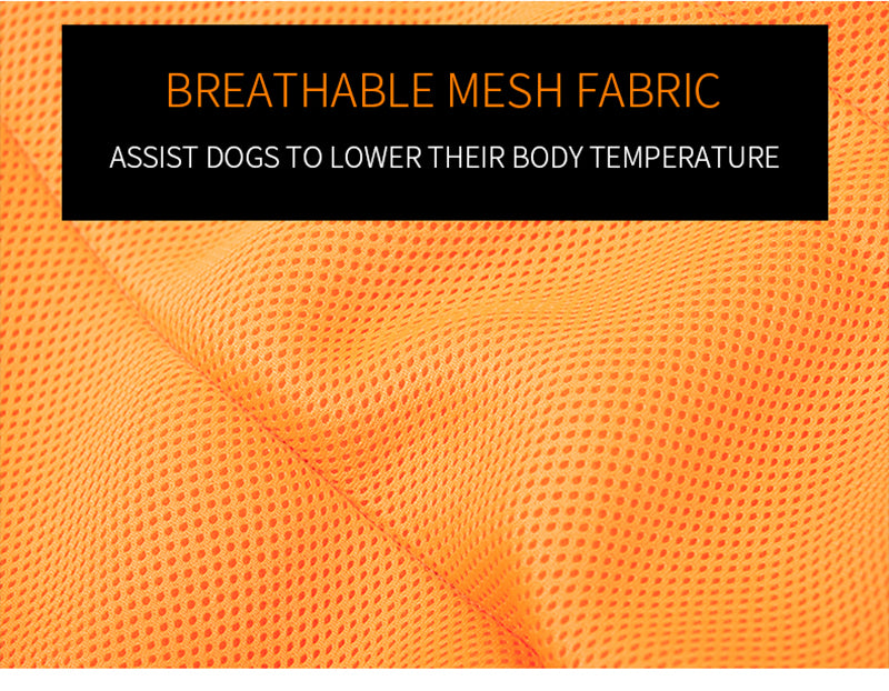 Dog Cooling Jacket With Breathable Mesh Technology