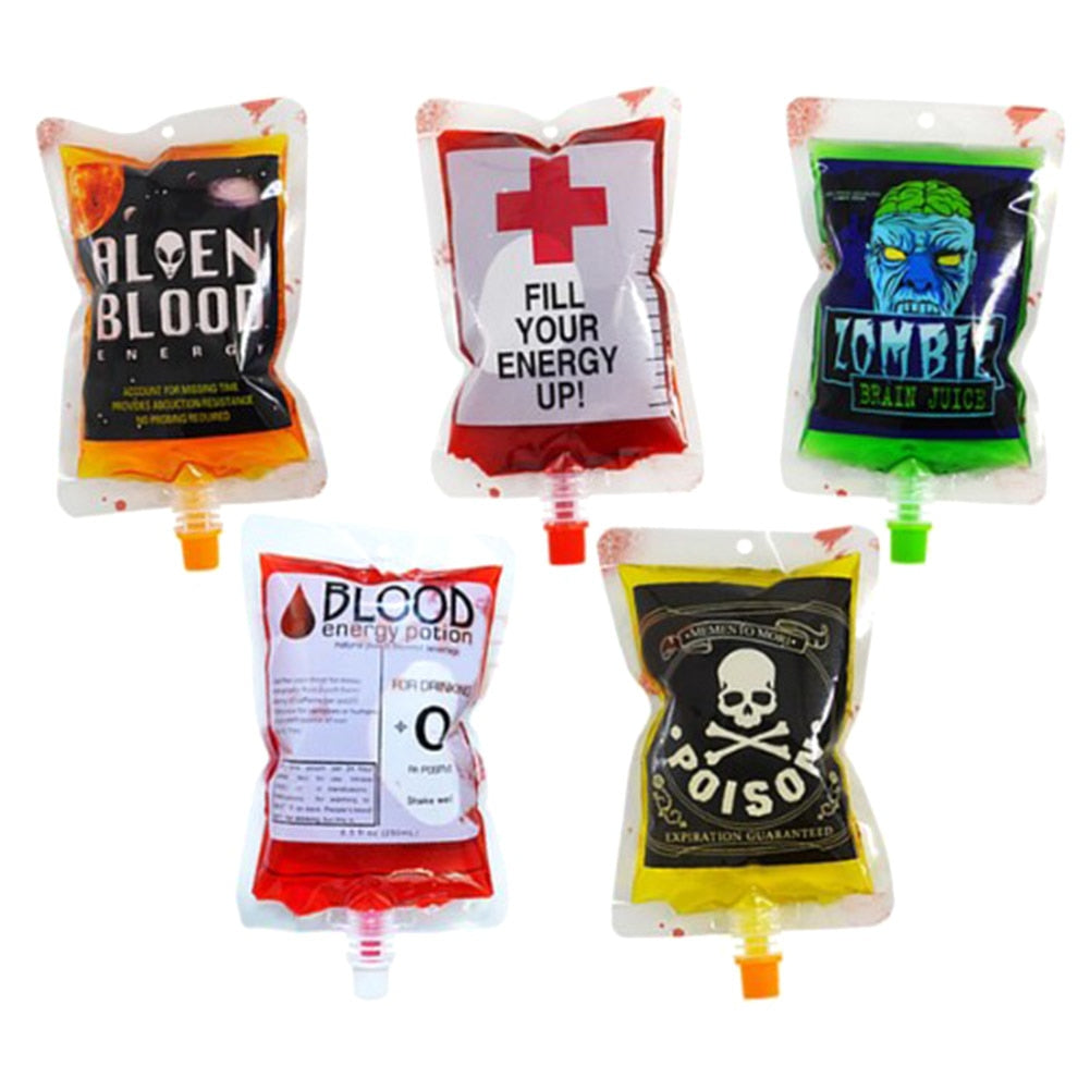 250ml Reusable Drinks Halloween Blood Bags