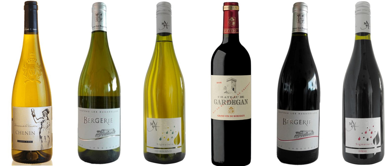 An appealing selection of 6 wines for the festive season