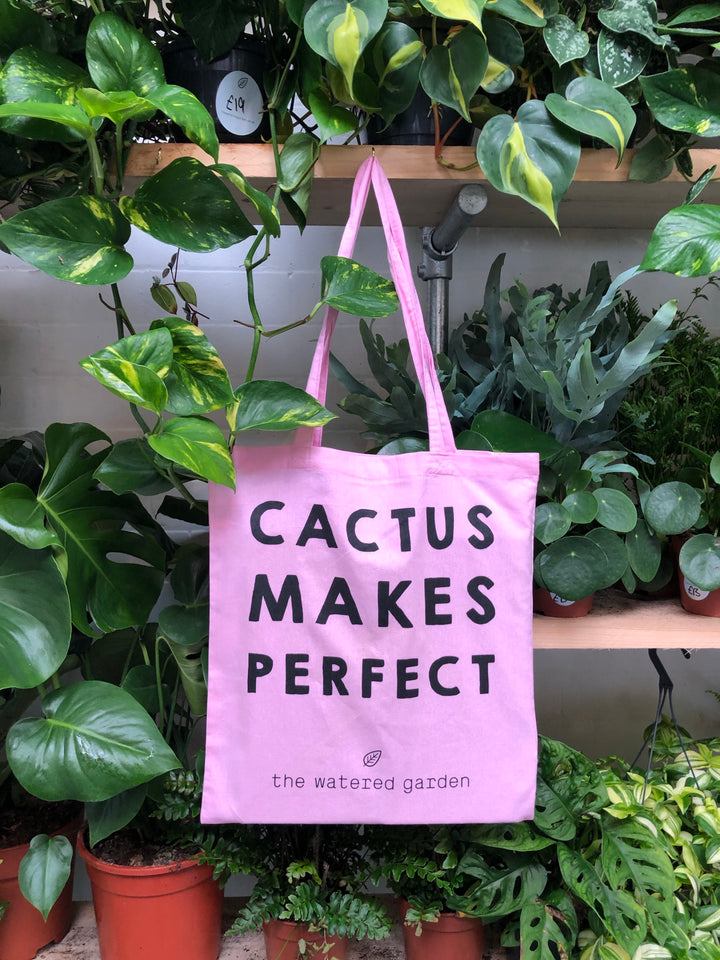 Cotton tote bag - Cactus Makes Perfect!