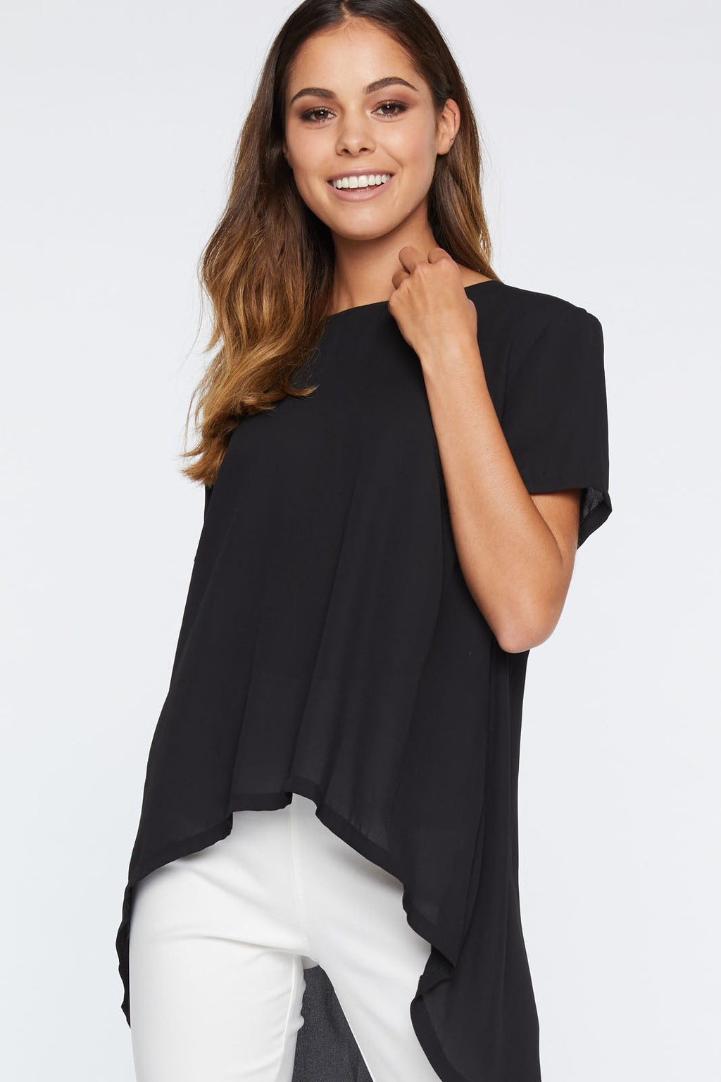 LIZZO WATERFALL TAIL TOP - Saphyra Boutique