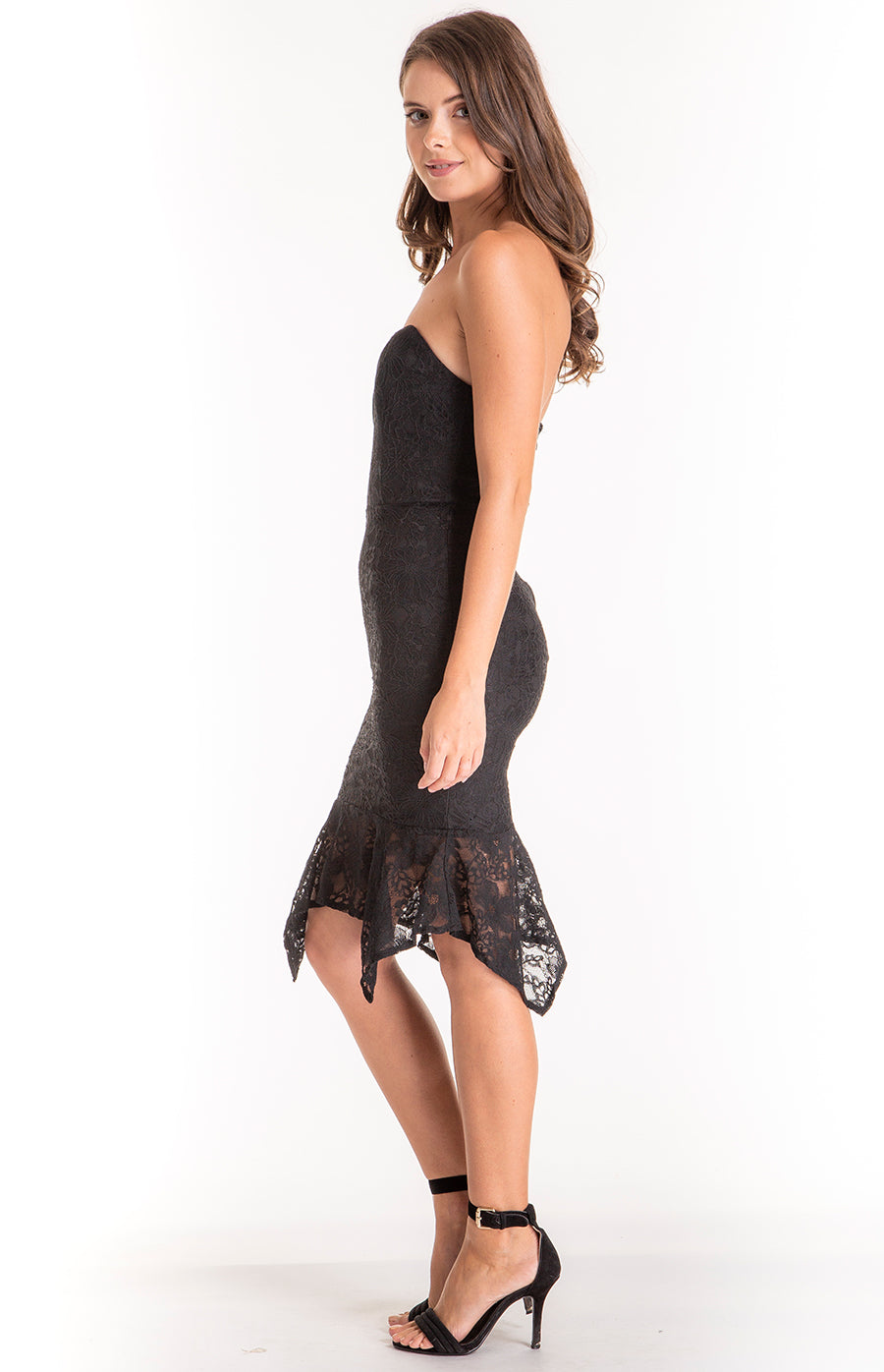 FAITHFULL BLACK LACE DRESS - Saphyra Boutique