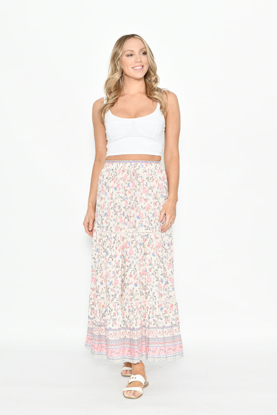 ISLA FLORAL SKIRT - Saphyra Boutique