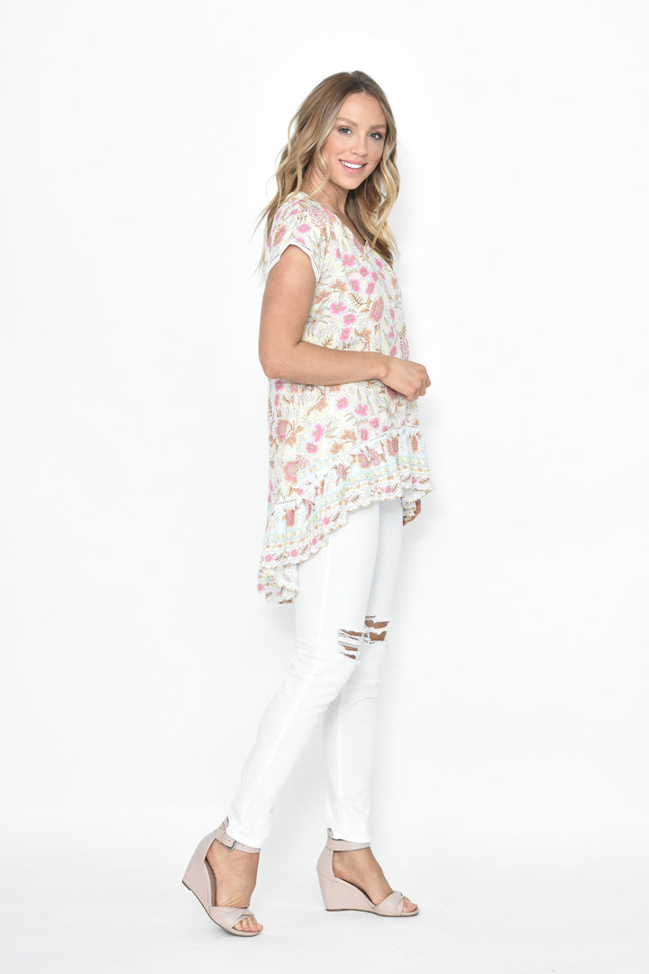 PURITY FLORAL TOP - Saphyra Boutique