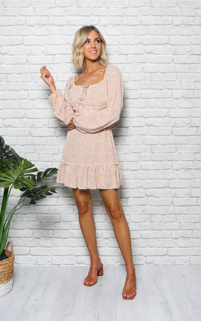 EVELYN LONG SLEEVE DRESS - Saphyra Boutique