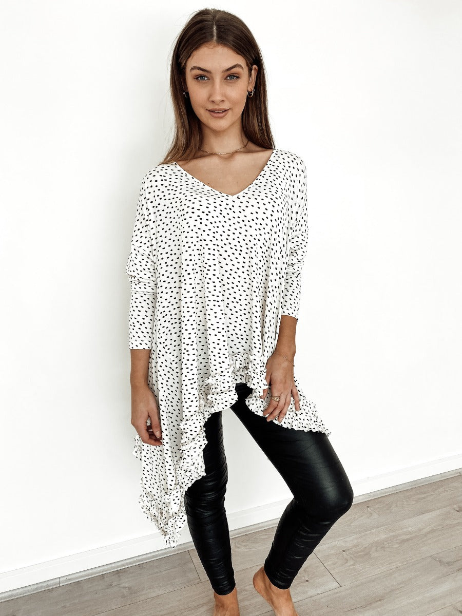 WHITE ROXY BLOUSE - Saphyra Boutique
