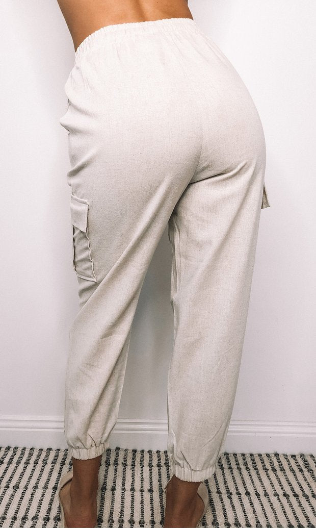 HARLOW LINEN PANTS - Saphyra Boutique