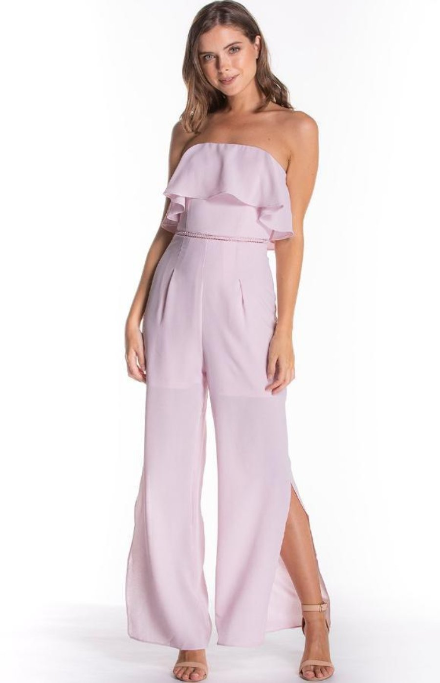 MEGAN BLUSH JUMPSUIT - Saphyra Boutique