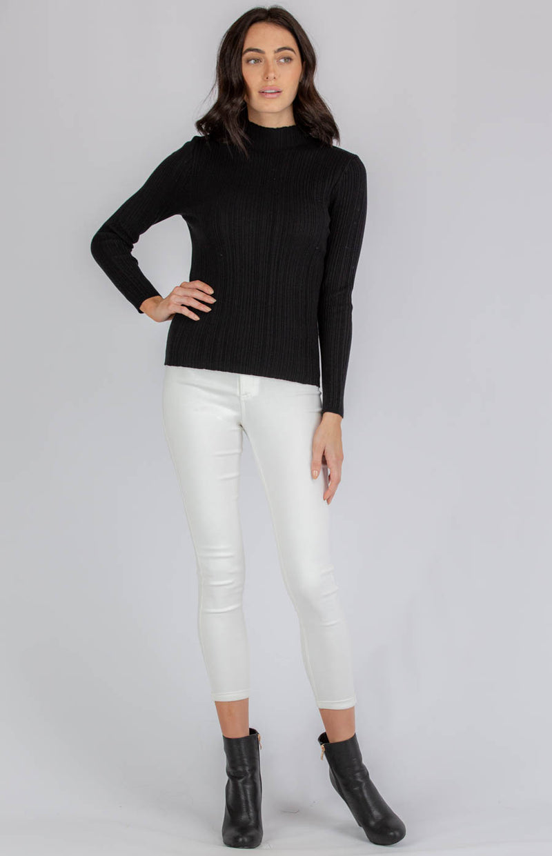 FAITH FITTED TEXTURED KNIT TOP