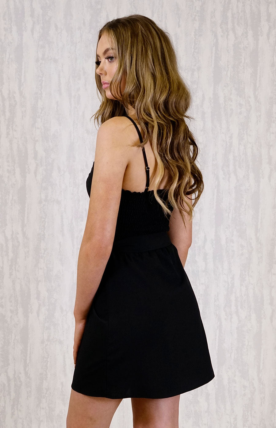 SARAH PEAKABOO BLACK DRESS - Saphyra Boutique