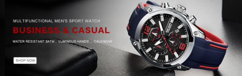 MULTI FUNCTIONAL MENS SPORT WATCH    Mens Chronograph Watch