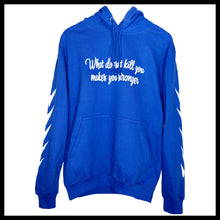 Laden Sie das Bild in den Galerie-Viewer, Statement Hoodie - Royal Blau