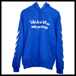 Statement Hoodie - Royal Blau