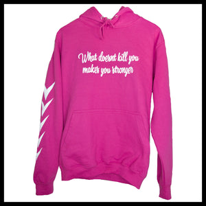 Statement Hoodie - Pink Purple