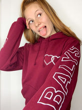 Laden Sie das Bild in den Galerie-Viewer, Balys Sleeve Hoodie - Weinrot