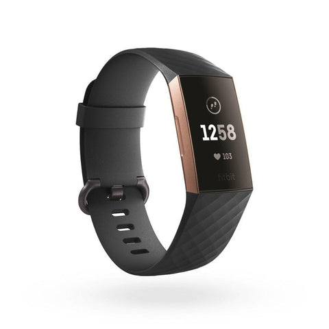 Black Silicone Band for Fitbit Charge 3