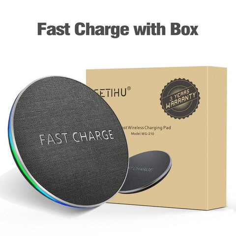 Fast Wireless Charger For iPhone 8 Plus, X, XS, MAX & XR and Samsung S8 & Note 8