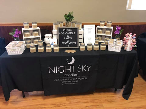 Night Sky Candle Craft Show