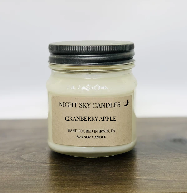 CRANBERRY APPLE SOY CANDLE