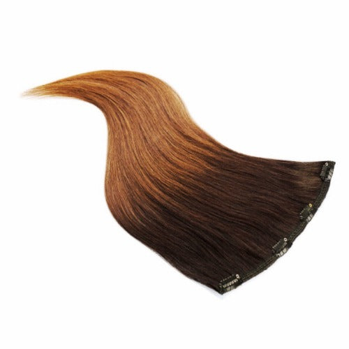 Echthaar Clip-in Extensions Ombre #1b/7