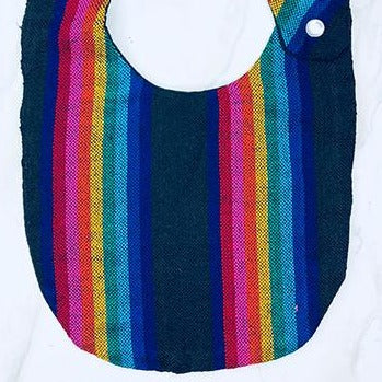 Black Stripe Cambaya Bib