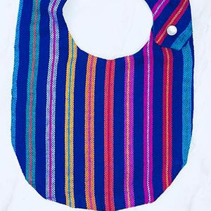 Purple Stripe Cambaya Bib